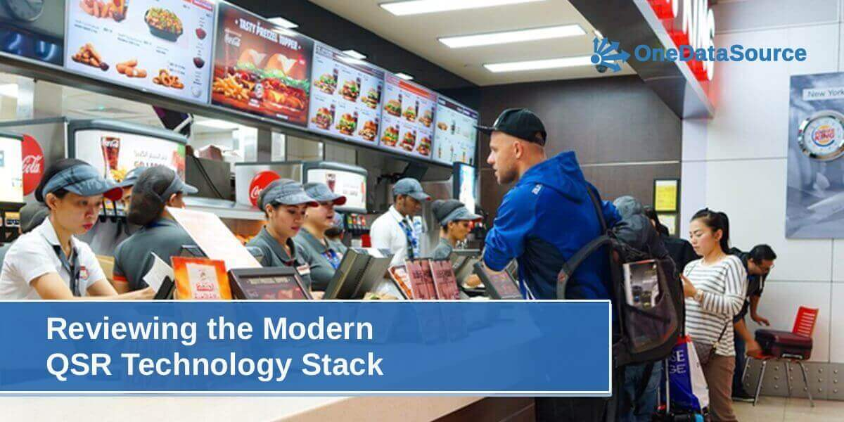 Employee Uses QSR Technology in Store