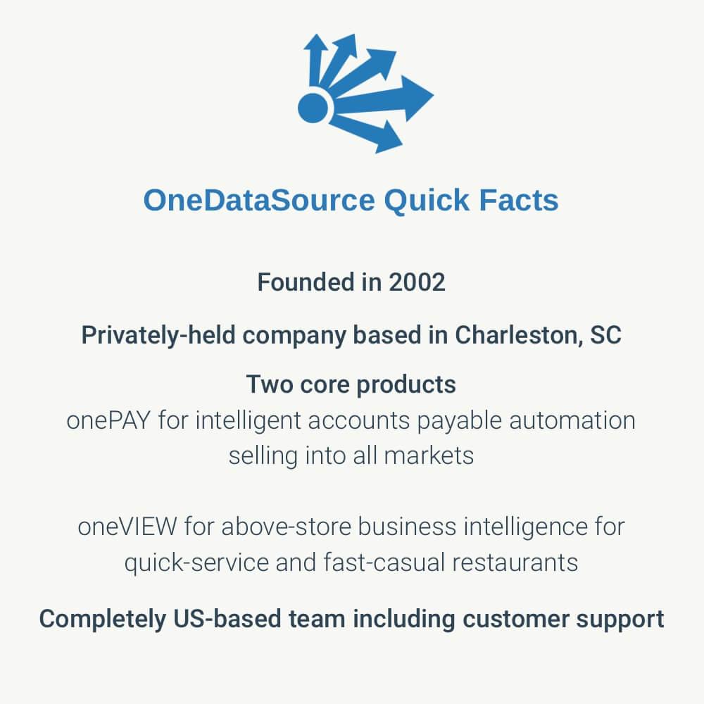 OneDataSource Quick Facts